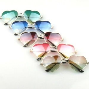 BRAND NEW Red and Pink Heart Shaped Gold Glasses